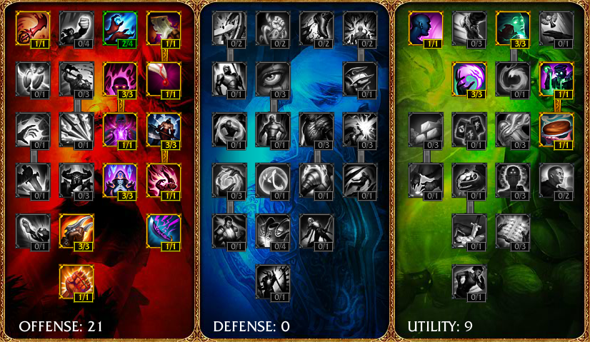 Twisted Fate masteries